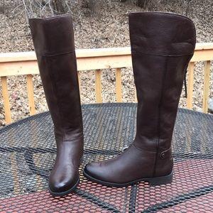 Franco Sarto Rich Brown 8M-WC Calf hi Riding Boots